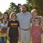 Sabina and host family (2014)